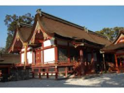 The main pavilion of Usa Hachiman Shrine(National Treasure)